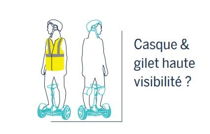 Segway législation FRANCE CASQUE ET GILET